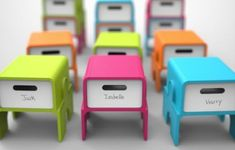 Stackable Storage Stools - Colorful Seating Objects Improve Classroom Comfort and Organization (GALLERY)