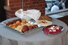 Cocktail Hour- Wedding Sambusek, Spinach Pies, Beef Kibbeh, Babaghanouj and more!