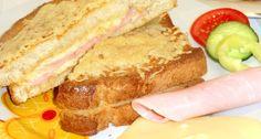 Francia melegszendvics recept | APRÓSÉF.HU - receptek képekkel Food Hacks, Food Tips, Hot Dogs, Hamburger, Healthy Recipes, Healthy Meals, French Toast, Sandwiches, Pizza