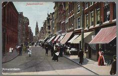 Amsterdam: Ca. 1898 Ansichtkaart Jodenbreestraat Amsterdam