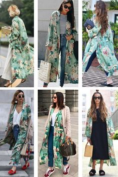 "A plus size spring kimono outfit. Casual and easy, my ""go-to"" summer and spring outfit. Outfits Spring, Chic Outfits, Fashion Outfits, Cochella Outfits, Simple Outfits, Skirt Outfits, Fasion, Mode Kimono, Kimono Style"