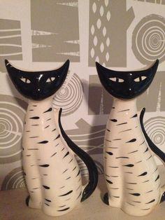 Vintage Retro Pair Of Arthur Wood Siamese Cat Ceramic Vase 1950s/1960 - Schmider | eBay