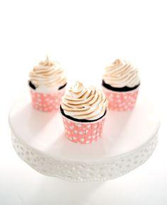 mini cupcakes de capuccino - Sabores de Canela