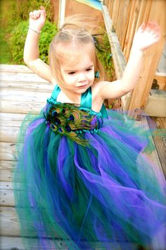 Peacock Tutu Dress by TwinningwithaToddler on Etsy, $55.00