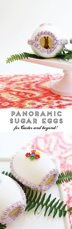 How to make panoramic sugar eggs for Easter! This is a really fun kids craft idea!