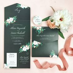 A sleek and chic take on a favorite floral design. Such a pretty look!