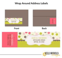 DIY Wrap Around Address Labels DIY Pinterest Label Templates - Plain address labels template