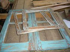 Porta de armário feitas com Janelas de demolição ecologicamente corretas