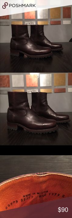 Frye Ankle Boots Frye Ankle Boots in Like New Condition. Men's size 8.5. Women's size 10.5. Just in time for Winter! Frye Shoes Ankle Boots & Booties