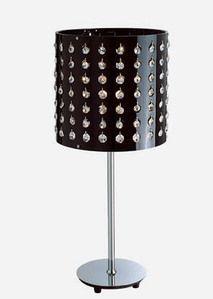 Vig Furniture Modrest AK929T Modern Black Table Lamp With Crystals