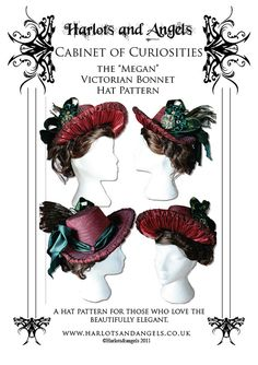 "Buckram ""Megan"" Victorian Bonnet Millinery Sewing Pattern (MBHP). $16.50, via Etsy."