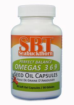 SBT Seabuckthorn Perfect Balance Omegas 3 6 9 Seed Oil Capsules. Same great product, brand new label! Keep an eye out for our new look on store shelves near you! Learn the difference between SBT Seabuckthorn Perfect Balance Omegas 3 6 9 Seed Oil and SBT Seabuckthorn The Amazing Omega 7 Fruit Oil here: http://youtu.be/H8qqT-4abHg