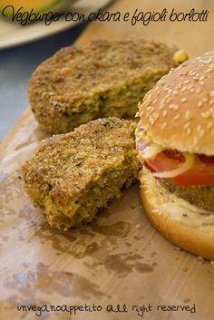 Vegburger di okara e fagioli borlotti