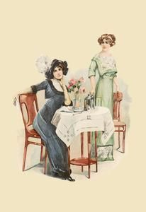 Art Print Afternoon Tea 28x42 New DB-30233