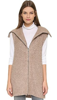 Women's Funnel Neck Zip Vest