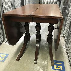 tell city dining table and 6 chairs. nice corner leather top table tell city dining and 6 chairs i