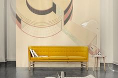 From Elle Decre DK, a beautiful yellow couch