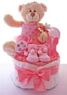 teddy bear centerpieces for baby shower | ... out this fun beary ballerina diaper cake from baby gifts gift baskets