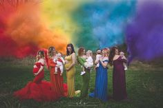 Stunning Photo Of Moms Holding 'Rainbow' Babies Goes Viral