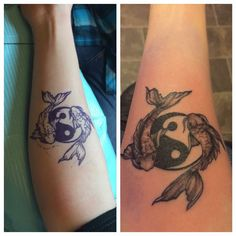 West Chester Koi Fish Surrounding A Yin Yang Symbol Piece Done By Drew At Double Deez Tattoo