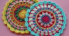 Free Crochet Mandala Patterns | ganchillo | Pinterest | Crochet Mandala, Crochet Mandala Pattern and Mandalas
