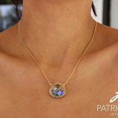 PG Cadenita con cristal #joyeriaartesanal #chapadeoro #handmadejewelry #diseñomexicano #artesanal #arte #joyeria #losmochis #jewelry #love #spring #primavera