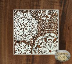 """Laser Cut Chipboard """"Background """"Snowflakes"""" [2]"""" by SiberianDIYcraftsArt on Etsy"""