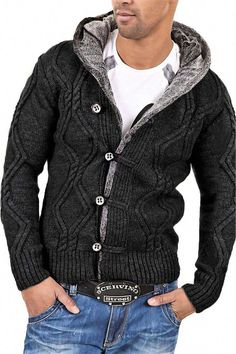 MSA Signature Carisma Men's Cardigan Sweater Source by Sweater Outfits, Sweater Cardigan, Men Sweater, Chunky Cardigan, Herren Outfit, Pullover Hoodie, Knit Jacket, Casual Sweaters, Cardigans