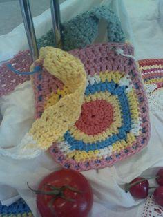 Funky Boho Gypsy Bohemian Hippie Crochet Bag by BowlaCherries