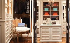 Oh, and did I forget to mention I would have to have all black interior doors? The closet would be white, tailored & organized with a boutique feel. Dressing Room Closet, Dressing Room Design, Dressing Rooms, Master Closet, Walk In Closet, Master Bedroom, Closet Island, Closet Vanity, Beautiful Closets