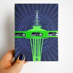 12th Man | Christmas Cards | Set of 12 | Seattle Seahawks | Available @ http://etsy.me/1dToWCU