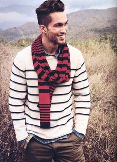 strisce - look a strisce per uomo - moda uomo - stripes always match on handsome gentlemen.