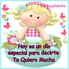 Dj Inkers, Spanish Greetings, Friend Birthday, Smurfs, Good Morning, Projects To Try, Greeting Cards, Romance, Fictional Characters