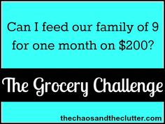 After the Grocery Challenge - The Chaos and the Clutter
