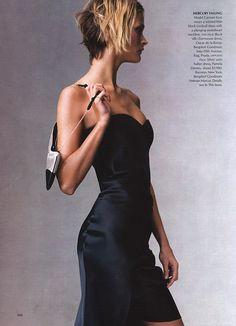 Carmen Kass in Starry Nights for Vogue, December 2000 by Steven Meisel