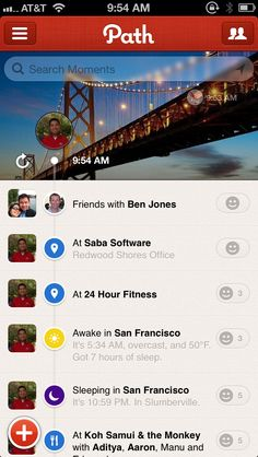 Path for iPhone - I've had it on my phone for a while but finally trying to use it more often for my private social network.