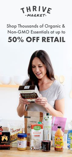 What if you could eat healthy AND cut your grocery bill in half? Now you can, thanks to Thrive Market. Shop your favorite organic & non-GMO brands for less today + get an extra off your first order! Eat Healthy, Healthy Snacks, Healthy Living, Healthy Recipes, Delicious Recipes, Yummy Food, Vegan Meal Prep, Vegetarian Cooking, Vegan Meals