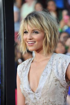 Dianna Agron Funky Edgy Bob More