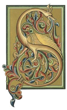 Illuminated letters book of kells , leuchtbuchstab. Book Of Kells, Book Letters, Letter Art, Medieval Manuscript, Medieval Art, Illuminated Letters, Illuminated Manuscript, Eslava, Jugendstil Design