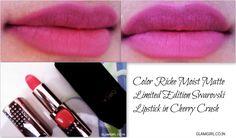 Get The Perfect Matte Look and Mini Review of Color Riche Moist Matte swarovski Lipstick in #CherryCrush #loreapparisin #loreal #lipstick