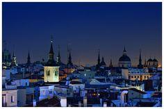 El otro skyline madrileño... el de verdad, el bueno. Impresionante foto, ahora sólo pienso en verlo en directo... la encontré en el gran Cuaderno Secreto de Bon Vivant (http://blogs.glamour.es/cuaderno-secreto-de-bon-vivant)