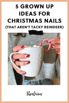 polish art 5 Grown Up Ideas for Christmas Nails (That Aren't Tacky Reindeer) Holiday Nails, Christmas Nails, Christmas Holiday, Holiday Decor, Red Wine Stains, Olive And June, Most Stylish Men, Nail Polish, Winter Nails
