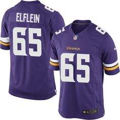 Men's Nike Minnesota Vikings #65 Pat Elflein Limited Purple Team Color NFL Jersey