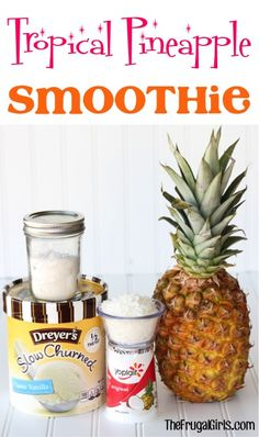 Craving something tropical and TOTALLY delicious?? You'll love this Easy Pineapple Smoothie Recipe!