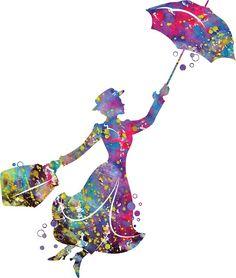'Mary Poppins' Canvas Print by bittermoon Mary Poppins Silhouette, Arte Disney, Disney Fun, Disney Cruise, Disney Stuff, Image Digital, Thing 1, Canvas Prints, Art Prints