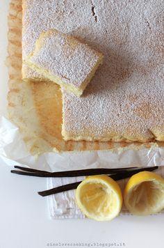 #torta al semolino con limone e vaniglia #lemon and #vanilla #cake