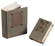 Sterling 1281016S2 2Pack English Garden Wood Keepsake Book Box 4 by 6Inch Garron Grey Linen >>> Want to know more, click on the image.