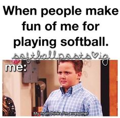 Softball is beast Funny Softball Quotes, Baseball Memes, Sports Memes, Soccer Memes, Funny Sports, Funny Quotes, Alabama Softball, Girls Softball, Softball Stuff