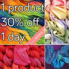 """Get a Scarf-in-a-Scarf kit at 30% OFF! - Today only❗️  The Scarf-in-a-Scarf uses 4 skeins of silk / merino yarn and a hand dyed silk scarf creating a unique piece. The kit comes with 4 different patterns helping you to design your favorite version of your """"SIS"""".   That easy to knit and at such an extraordinary price why would you wait?"""