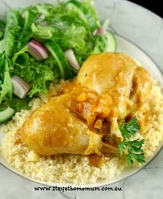Apricot Chicken Slow Cooker Recipe | Stay at Home Mum #Slowcooker #Chicken